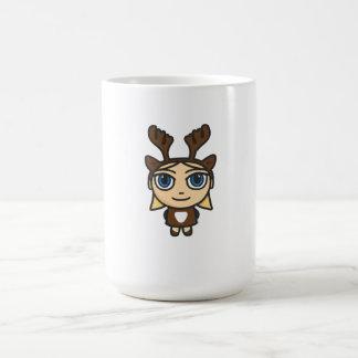 Reindeer Girl Cartoon Mug