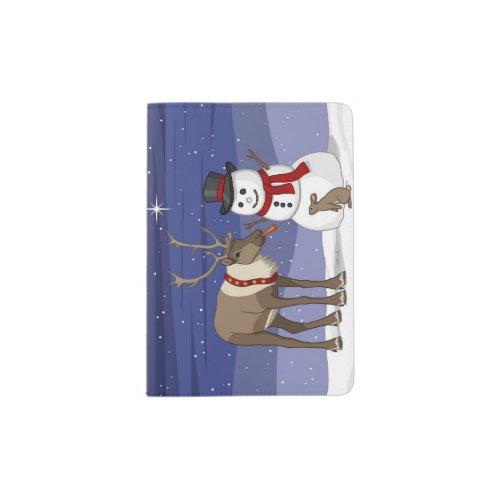 Reindeer Giving Rabbit Snowman Carrot Nose Passport Holder