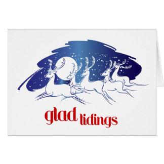 Reindeer Good Tidings Holiday Greetings Card