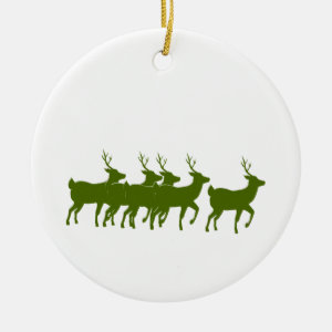 reindeer green across bottom.png christmas tree ornament