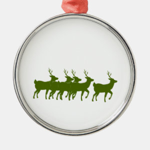reindeer green across bottom.png christmas ornament