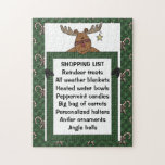 Reindeer Green Shopping List 10x14 ONLY! Puzzle