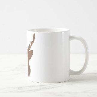 reindeer head antler coffee mugs