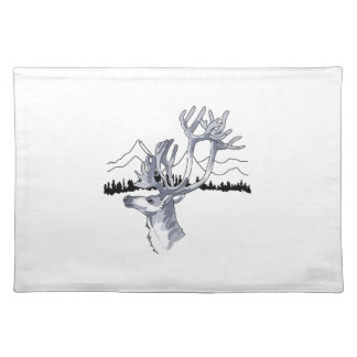 REINDEER HEAD BACKDROP CLOTH PLACEMAT