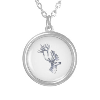 REINDEER HEAD PERSONALIZED NECKLACE