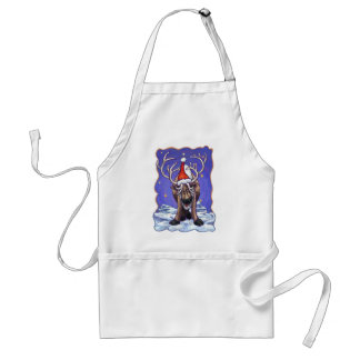 Reindeer Holiday Adult Apron