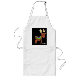 Reindeer-holiday apron