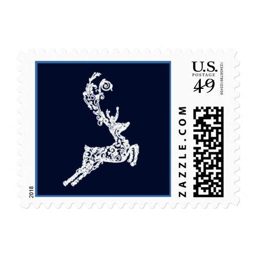 Reindeer Holiday Christmas Postage Stamps