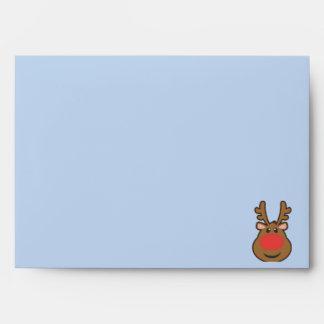 Reindeer holiday envelope