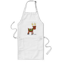 Reindeer- holiday gift long apron