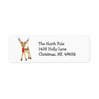 Reindeer Holiday Label