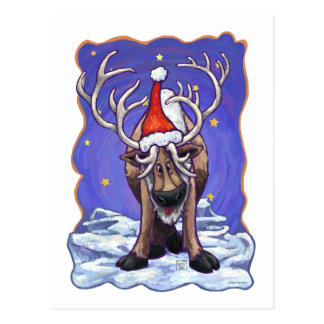 Reindeer Holiday Postcard