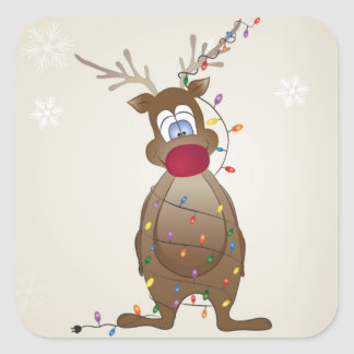 Reindeer Holiday Stickers