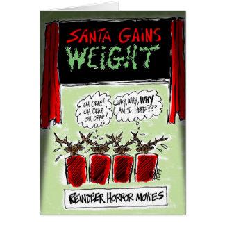 Reindeer Horror Movies Cartoon Christmas Card! Card