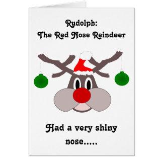 Reindeer Humorous Christmas Card