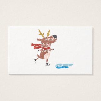 Reindeer ice skate business card