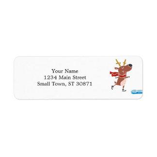 Reindeer ice skate label