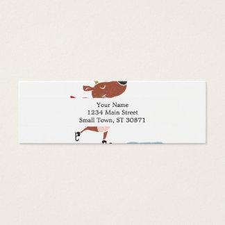Reindeer ice skate mini business card