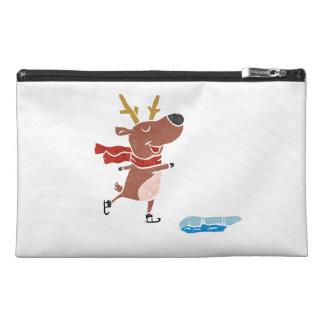 Reindeer ice skate travel accessory bag