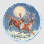 REINDEER & ICICLES by SHARON SHARPE Stickers