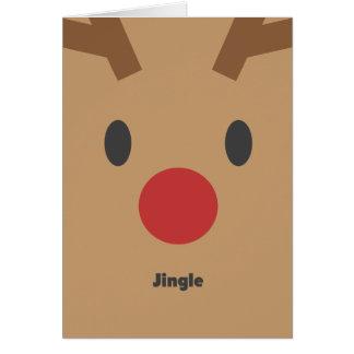 Reindeer Illustration Holiday Greeting Card