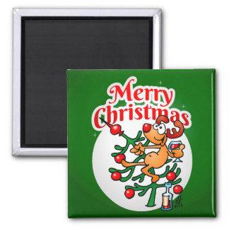 Reindeer in a Christmas tree Magnet