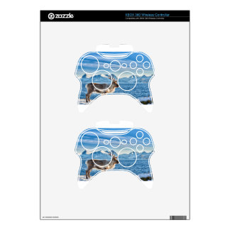 Reindeer in snow covered landscape at sea xbox 360 controller decal