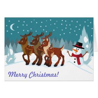 Reindeer in the Snow Greeting Card