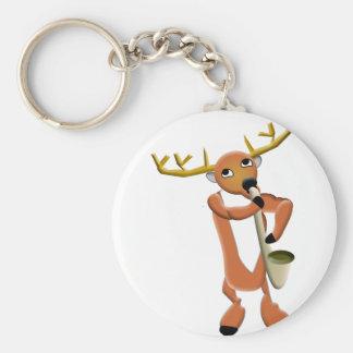 Reindeer Jazz Keychain