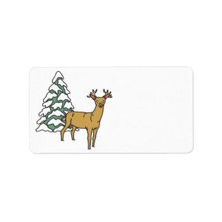 Reindeer Label