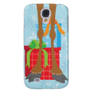 Reindeer Legs and Gifts Holiday 3 Cas Galaxy S4 Cover