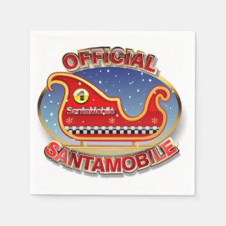 "Reindeer-less Sleigh ""SantaMobile"" Paper Napkin"