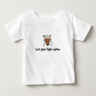 reindeer, Let your light shine Baby T-Shirt