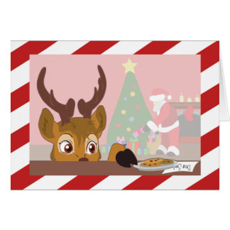 Reindeer Love Cookies (No Text) Card