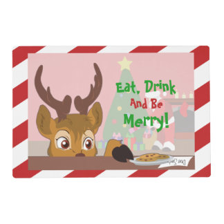 Reindeer Love Cookies Placemat