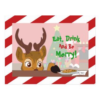 Reindeer Love Cookies Postcard