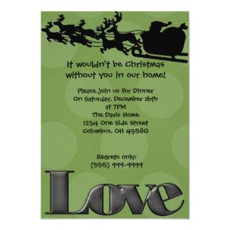 Reindeer Love (green) Card