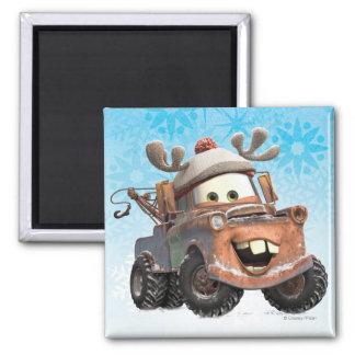Reindeer Mater 2 Inch Square Magnet