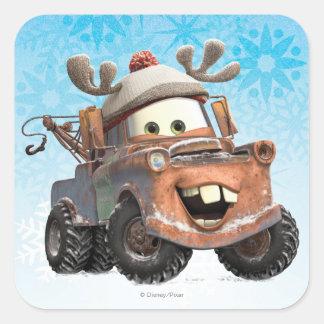 Reindeer Mater Square Sticker