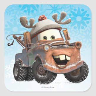 Reindeer Mater Square Stickers