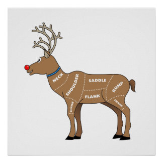 Reindeer Meat for Christmas Poster