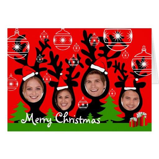 Reindeer Merry Christmas Add Photo Card 2