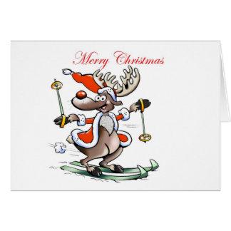 reindeer Merry Christmas Card