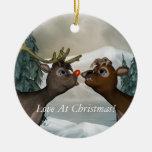 Reindeer Merry Christmas Ornament
