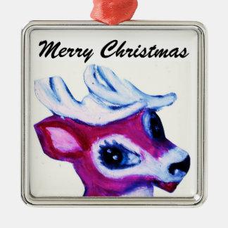 REINDEER, MERRY CHRISTMAS ornament