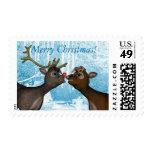 Reindeer Merry Christmas Postage