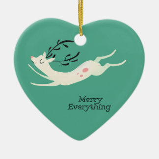 Reindeer Merry Everything Christmas Ornament