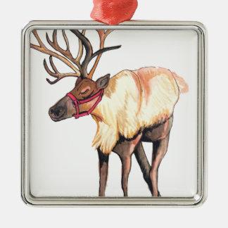 Reindeer Metal Ornament