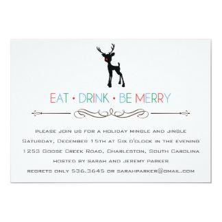 Reindeer Mingle and Jingle Invitation