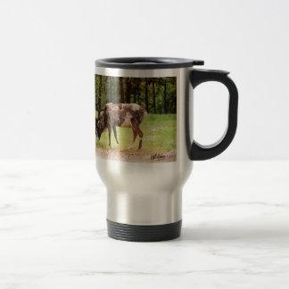 Reindeer 15 Oz Stainless Steel Travel Mug